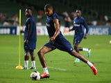Mikael Mandron of Sunderland kicks the ball during a Sunderland Barclays Asia Trophy training session at Hong Kong Stadium on July 23, 2013