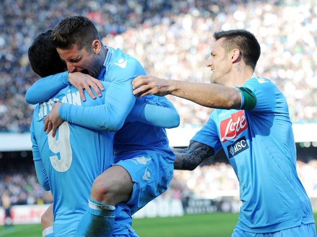 Result: Mertens double sinks Sampdoria