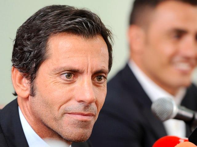 Spaniard Quique Sanchez Flores, the new football coach of Dubai's Al-Ahli club speaks to reporters in Dubai on November 10, 2011