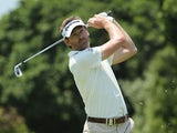 Raphael Jacquelin in action during day one of the 2014 Volvo Golf Champions on January 9, 2014