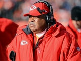 Kansas City Chiefs head coach Romeo Crennel during the game against the Denver Broncos on December 30, 2012