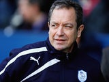 Stuart Gray manager of Sheffield Wednesday looks on during the Sky Bet Championship match between Sheffield Wednesday and Leeds United at Hillsborough Stadium on January 11, 2014