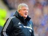 Steve Bruce manager of Hull City looks on during the Barclays Premier League match between Hull City and Chelsea at KC Stadium on January 11, 2014
