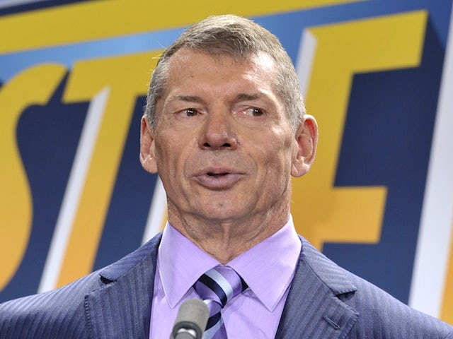 Vince McMahon attends a press conference to announce that WWE Wrestlemania 29 will be held at MetLife Stadium in 2013 at MetLife Stadium on February 16, 2012