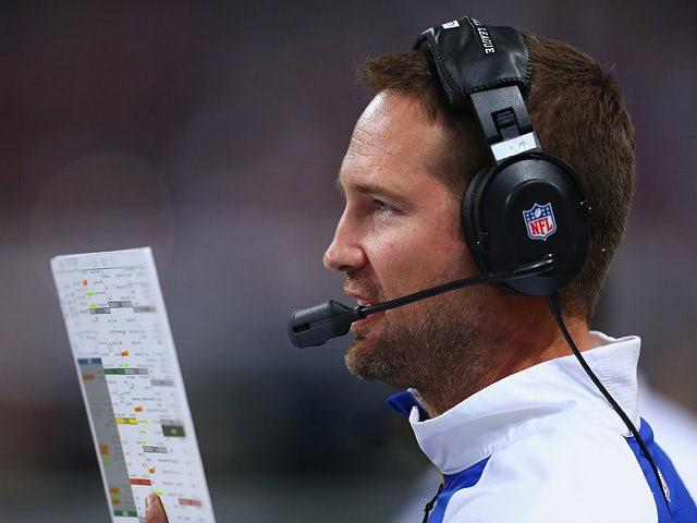 St. Louis Rams offensive coordinator Brian Schottenheimer calls a play against Tennessee Titans on November 3, 2013