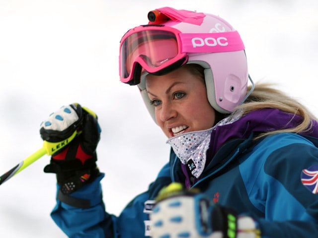 Great Britain's Chemmy Alcott in action during the Audi FIS Alpine Ski World Cup Women's Downhill Training on December 19, 2013