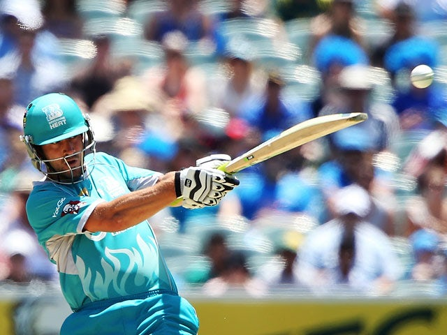 Brisbane Heat's Craig Keiswetter in action against Adelaide Strikers during their Big Bash League match on January 18, 2014