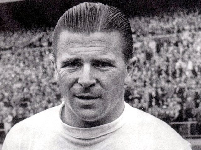Ferenc Puskas poses in a Real Madrid strip on January 01, 1960.