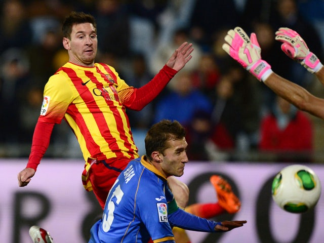 Result: Messi double inspires Barca to victory