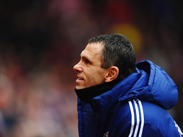 Sunderland manager Gus Poyet during the match against Southampton on January 18, 2014