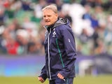 Joe Schmidt, the Ireland head coach looks on during the International match between Ireland and New Zealand All Blacks at the Aviva Stadium on November 24, 2013