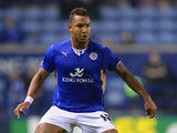 Liam Moore of Leicester in action during the Capital One Cup Third Round match between Leicester City and Derby County at The King Power Stadium on September 24, 2013