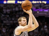 Matt Bonner of the San Antonio Spurs attempts a shot against the Memphis Grizzlies during Game Two of the Western Conference Finals of the 2013 NBA Playoffs  on May 21, 2013