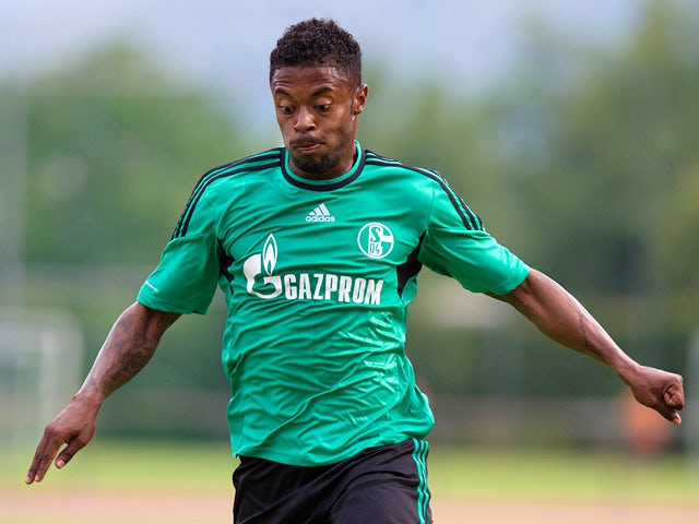 Schalke's Michel Bastos in action against Southampton during a friendly match on July 24, 2013