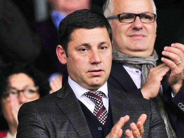 Southampton chairman Nicola Cortese watches on from the stands during a Premier League game on October 6, 2013
