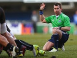 Referee Nigel Owens of Wales during the Heineken Cup Pool 5 match between Montpellier and Leicester Tigers at Stade Yves Du Manoir on December 15, 2013