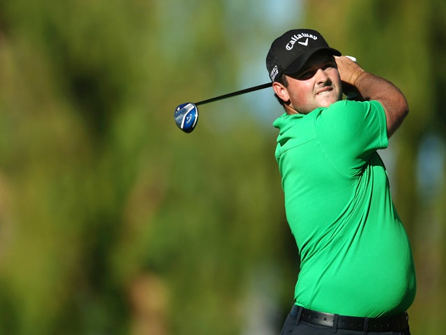 Patrick Reed hits a tee shot on the ninth hole on the Arnold Palmer Private Course at PGA West during the first round of the Humana Challenge in partnership with the Clinton Foundation on January 16, 2014
