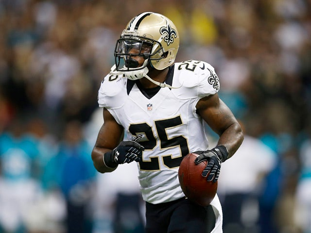 Rafael Bush #25 of the New Orleans Saints in action against Miami Dolphins on September 30, 2013