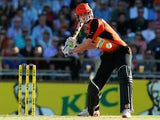 Ashton Turner of the Perth Scorchers bats during the Big Bash League match between the Perth Scorchers and the Adelaide Strikers at WACA on January 16, 2014