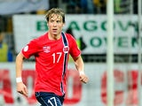 Stefan Johansen of Norway controls the ball during a FIFA World Cup 2014 qualifying football match between Slovenia and Norway in Maribor, Slovenia on October 11, 2013