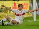 Stuttgart's striker Timo Werner reacts during the German first division Bundesliga football match Borussia Dortmund vs VfB Stuttgart in Dortmund, western Germany on November 1, 2013