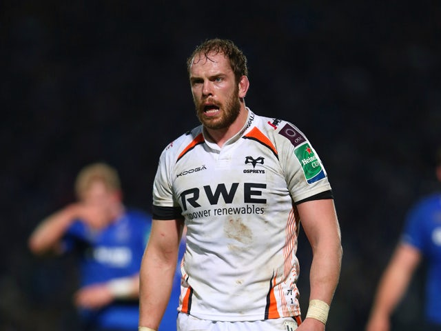 Alun Wyn Jones ol One match between Leinster and Ospreys at the Royal Dublin Society Ground on January 17, 2014
