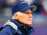 Dante Scarnecchia of the New England Patriots watches on before a game with the Indianapolis Colts at Gillette Stadium on November 18, 2012