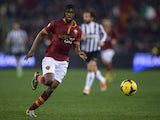 AS Roma's forward of Ivory Coast Gervinho controls the ball against Juventus during their Coppa Italia football match, on January 21 , 2014