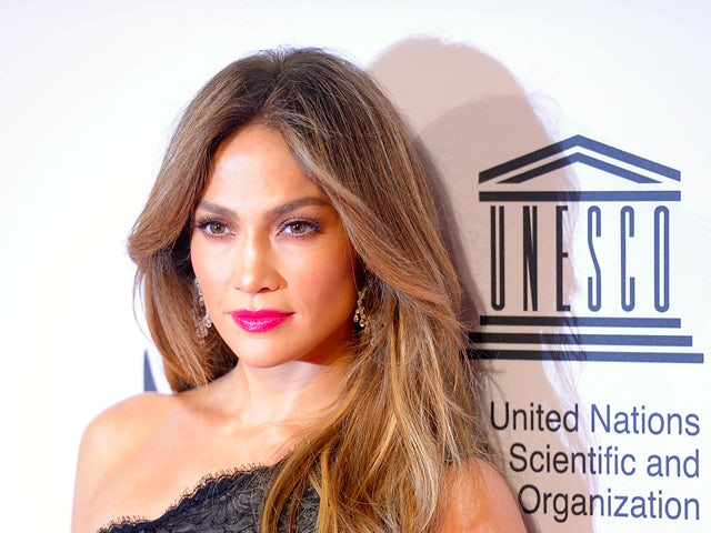 US Singer and actress Jennifer Lopez arrives at Maritim Hotel for the Unesco Charity Gala 2012 in Duesseldorf, on October 27, 2012