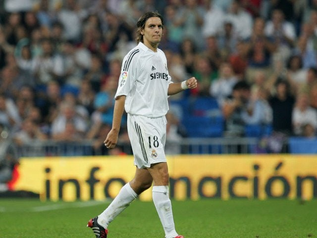 Jonathan Woodgate is sent off on his Real Madrid debut on September 22, 2005.