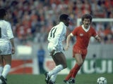 Laurie Cunningham in action for Real Madrid against Liverpool on May 27, 1981.