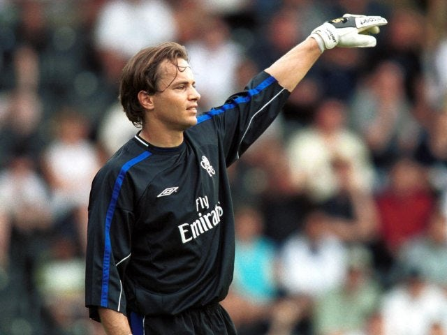 Mark Bosnich in action for Chelsea on July 28, 2001.