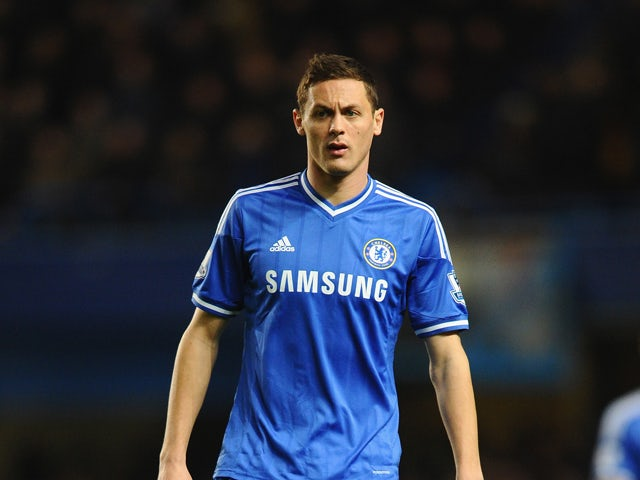 Nemanja Matic of Chelsea makes a late appearance as a substitute during the Barclays Premier League match between Chelsea and Manchester United at Stamford Bridge on January 19, 2014