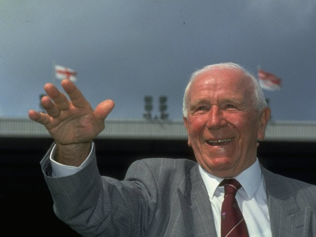 Sir Matt Busby poses for a photograph on January 01, 1991.
