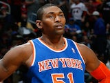 Metta World Peace in action against the Atlanta Hawks at Philips Arena on November 13, 2013