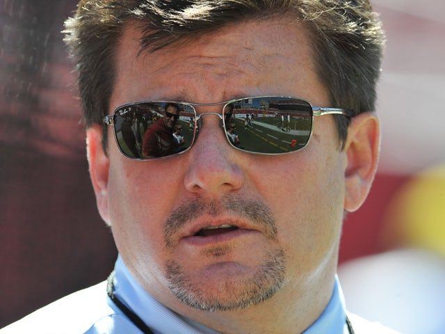 President Michael Bidwill of the Arizona Cardinals watches warmups before play against the Tampa Bay Buccaneers September 29, 2013