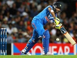 Ravindra Jadeja of India bats during the One Day International match between New Zealand and India at Eden Park on January 25, 2014