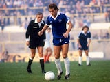 Ray Wilkins in action for Chelsea on January 01, 1975.