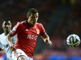 Benfica's Brazilian forward Rodrigo Lima controls the ball during the Portuguese league football match SL Benfica vs CS Maritimo at Luz stadium in Lisbon on January 19, 2014