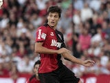 Santiago Vergini vies for the ball during their Copa Libertadores 2013 Group 7 match on March 5, 2013