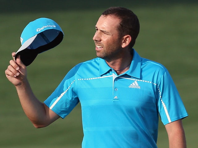 Sergio Garcia of Spain looks on as he competes in the final round of the Qatar Masters at the Doha Golf Club on January 25, 2014