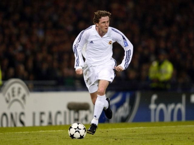 Steve McManaman in action for Real Madrid during the 2002 Champions League final.