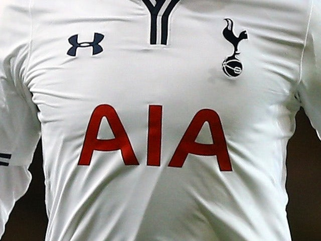 A shot of a Tottenham Hotspur cup shirt, sponsored by AIA on December 12, 2013