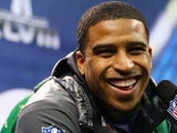 Middle linebacker Bobby Wagner #54 of the Seattle Seahawks talks with the media during Super Bowl XLVIII Media Day at the Prudential Center on January 28, 2014