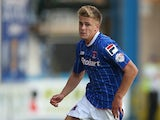Carlisle's Brad Potts in action against Blackburn during their League Cup first round match on August 7, 2013
