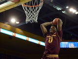 Carrick Felix #0 of the Arizona State Sun Devils dunks on the UCLA Bruins on February 27, 2013