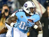 Delanie Walker #82 of the Tennessee Titans carries the ball against the Indianapolis Colts in the first quarter at LP Field on November 14, 2013