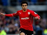 Fabio da Silva of Cardiff in action during the Barclays Premier League match between Cardiff City and Norwich City at Cardiff City Stadium on February 1, 2014