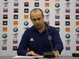 France's rugby union national team head coach, Philippe Saint-Andre, gives a press conference to announce the team for the 6 nations rugby union match between France and England, on January 30, 2014