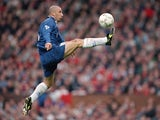 Gianluca Vialli, then of Chelsea, controls the ball against Manchester United on November 02, 1996.